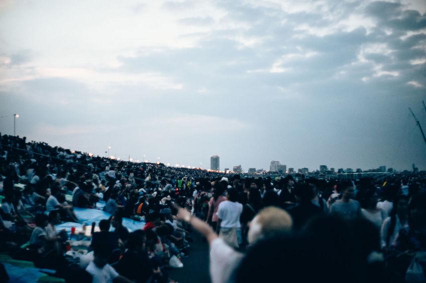 Edogawa Fireworks Fireworks Hanging Out Japan Photography Tokyo Street Photography Tokyo,Japan A Large Number Of Peop Before Hanab Crowd Crowd Of People Night People Photography Summer Day Summer Nights Wait For Getting Dark Way To Hanabi