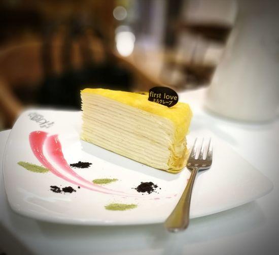 Vanilla Cake Food Indoors