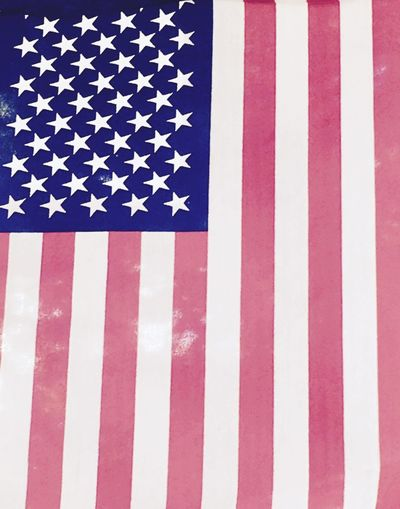 Happy 4th of July! Usflag Stars And Stripes Flag Patriotism Striped Independence Close-up Blue No People Outdoors