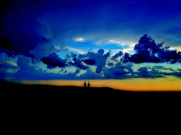 Sky Landscape Outdoors Desert Sunset Cloud - Sky Adventure Nature Beauty In Nature Night Nancy Ciel Nuages Beauty In Nature People Blue Nature Silhouette Rural Scene Day Place Of Heart The Great Outdoors - 2017 EyeEm Awards