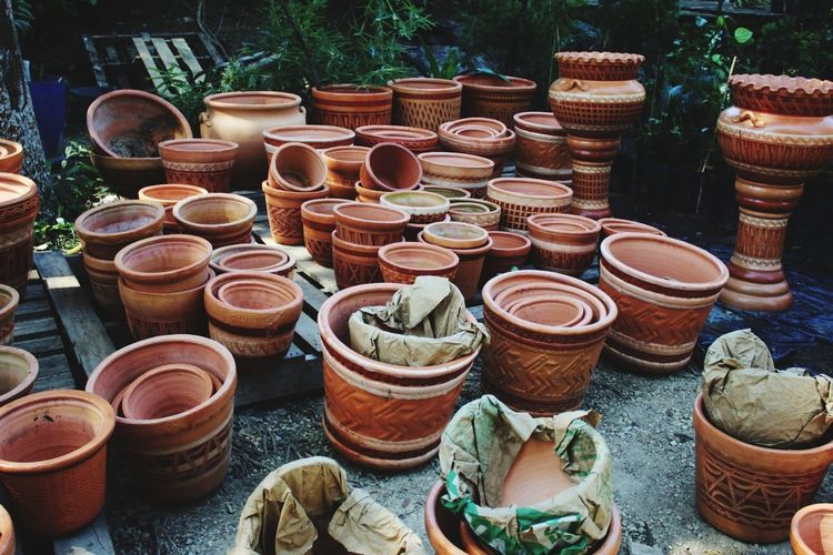 Gardens near the city. EyeEm Selects Clay Choice Earthenware Variation High Angle View Pot For Sale Flower Pot
