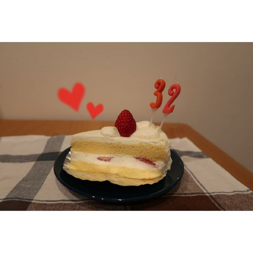 mybirthday Birthday Cake ショートケーキ Cheesecake Fruit Dessert Cream Cake Homemade Bakery Sponge Cake Sweet Pie