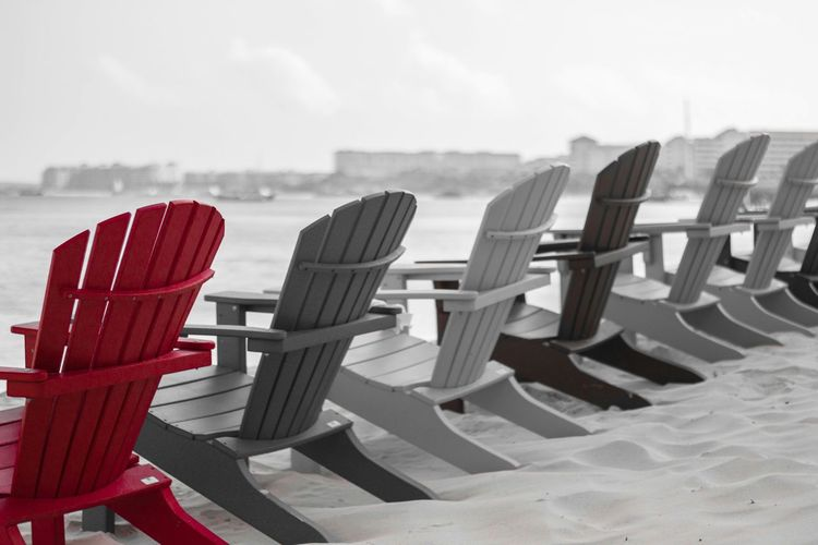Have A Seat Beachphotography Aruba♥ Red Beach City Beach Chairs Red Red Seeing In Red Sand & Sea