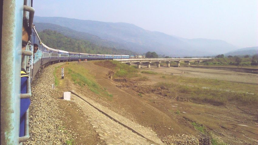 Feel The Journey Train Journey Journey Home Dry Riverbed Mountains Bluehills India Northeastindia Incredible India Random Shot