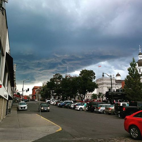 Clouds over city hall right now Thunderstorm Stormclouds Prestorm Darkclouds Overcast Kingston_ontario Ontario