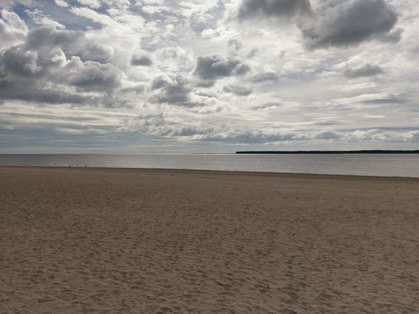 Beach Sand River Tay Broughty Ferry Fife  Tentsmuirforest Water Sky Clouds