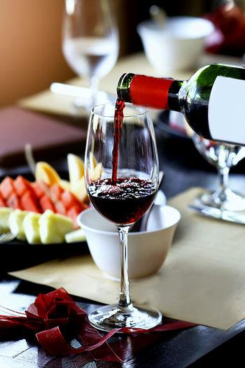Wine glass on