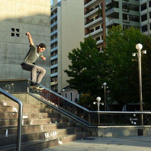 Old Skatelife Skateboarding Lifestyle La Plata City Switch Frontside Stairs Theather