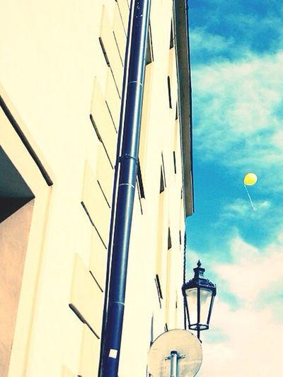 Balloon in the sky. Praha Balloon