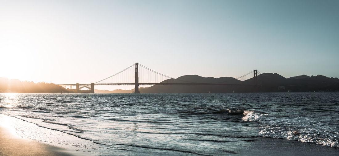 Beach California Pacific Ocean Pacific Coast Golden Gate Bridge Bridges Arhitecture Arhitecture Photography Seascape Sunset Sunlight Waves, Ocean, Nature