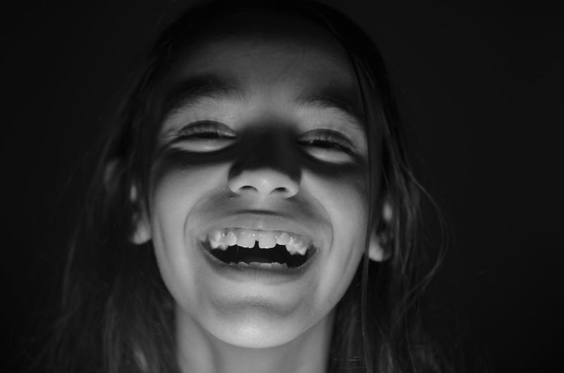 Smiles all around Black Background Blackandwhite Child Children Photography Happiness Headshot Innocence Laughing Laughter Portrait Smile Smiling Youth
