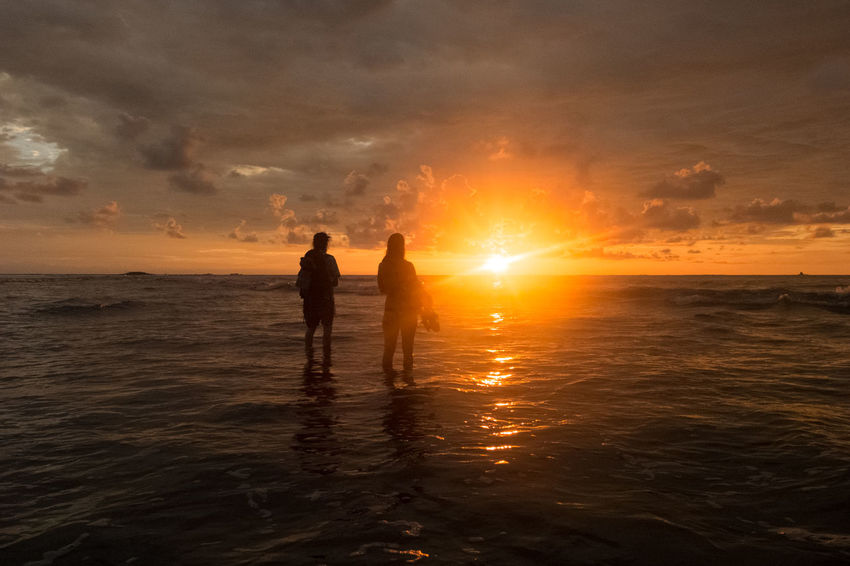 Costa Rica Mirror Nature Orange Red Beach Beauty In Nature Jungle Ocean Sky Sunset Wildlife An Eye For Travel