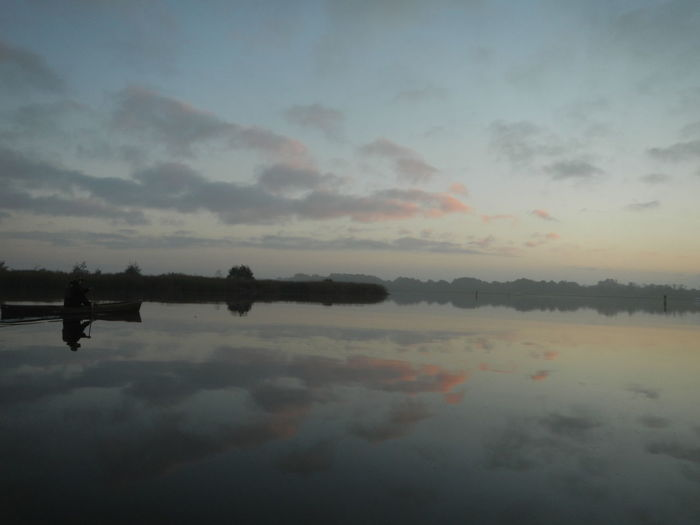 Barton Broad Barton Turf Beauty In Nature Canoeing Cloud - Sky Day Dusk Horizon Over Water Nature No People Norfolk Norfolk Broads Outdoors Reflection Reflection Scenics Sky Song Of The Paddle Sunrise Sunset Swift Tranquil Scene Tranquility Water