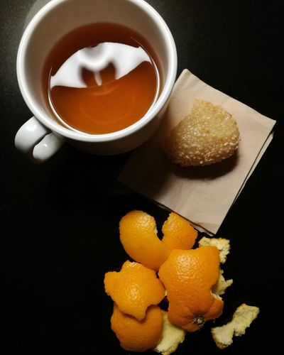 A good night. Tea Time, Me Time. Dessert Indoors  Black Background Fruit Food And Drink First Eyeem Photo