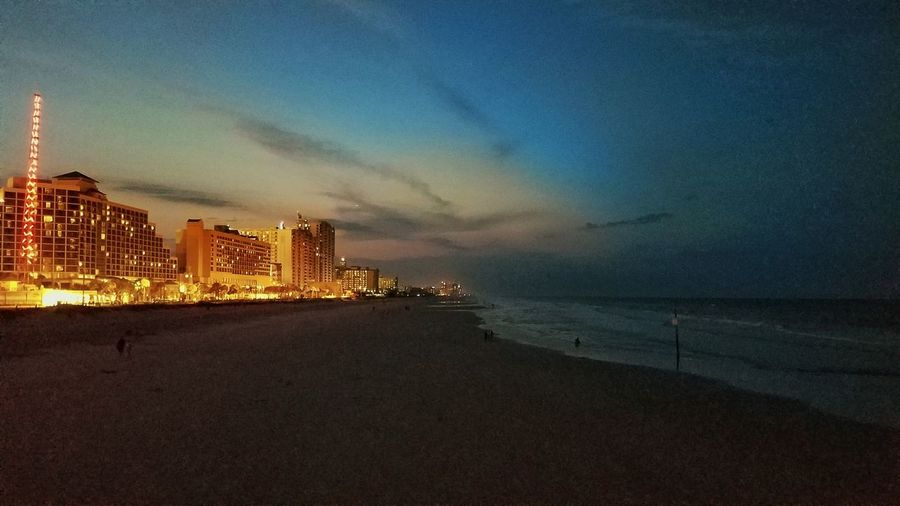 Cities At Night Daytona Beach Beachphotography Nightphotography OceanCity No Location Needed No People