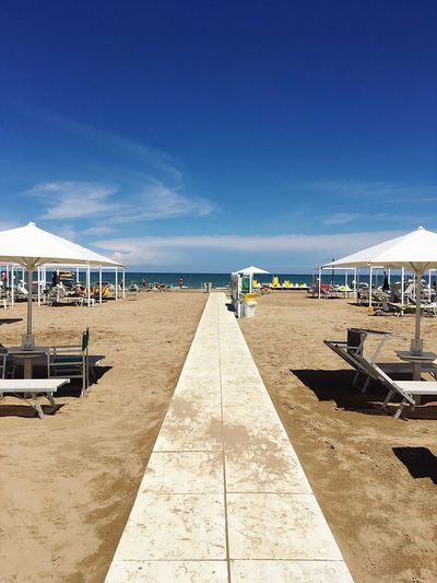 Rimini's beach. Rimini Beach Sea Sand Vacations Tranquil Scene Outdoors Summer Relaxation