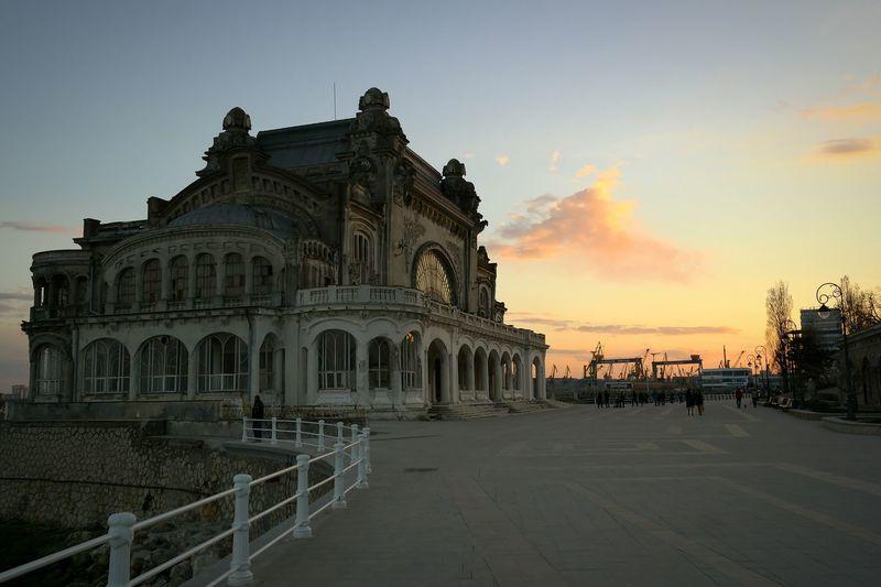 Dusk Constanta Casino Black Sea Dusk