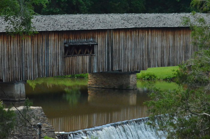 Architecture Building Exterior Built Structure Covered Bridge Day Nature No People Outdoors Plant Reflection Tree Water Watermill