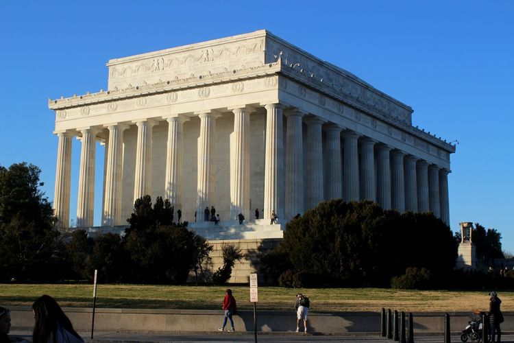 Architecture Travel Destinations Architectural Column Built Structure Outdoors History Sky Day Tree People City Politics And Government Neon Life Architecture Close-up Old Buildings Old-fashioned Lincoln Memorial, Washington DC Lincoln Monument DC Washington, D. C. Washington DC Lost In The Landscape Second Acts