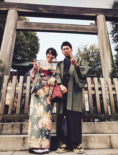 Two People Beautiful People Couple - Relationship Women Elégance Cultures Smiling Young Adult Adult Young Women Outdoors YUKATA Happiness People Togetherness Traditional Clothing Kimono IPhoneography Shotoniphone7 EyeEmJapan Japan Photography Streetphotography Japanese Culture Tokyo Shrine Of Japan