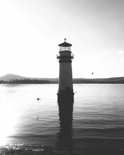 Black And White Friday Lighthouse Sky Tranquility No People Building Exterior Water Horizon Over Water Beauty In Nature Black And White Blanco Y Negro Blanco & Negro  Blackandwhite