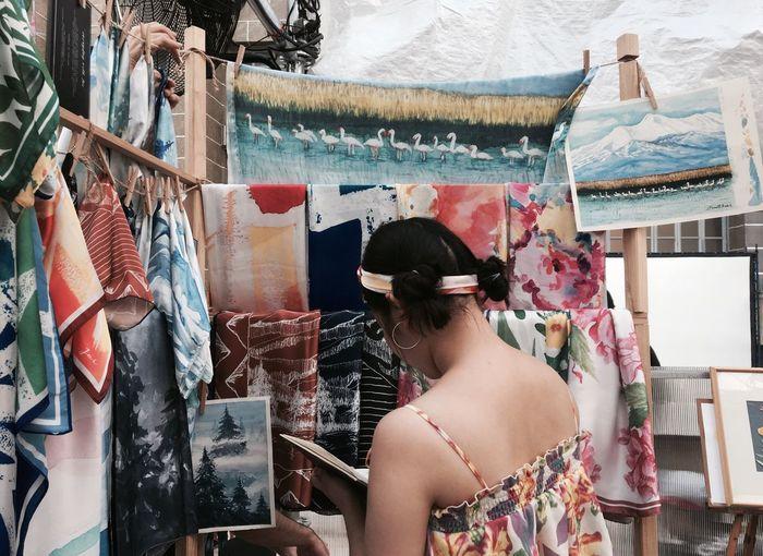 Art time Art Design Clothes Shop Shopaholic Shopper Paint Painting Handkerchief