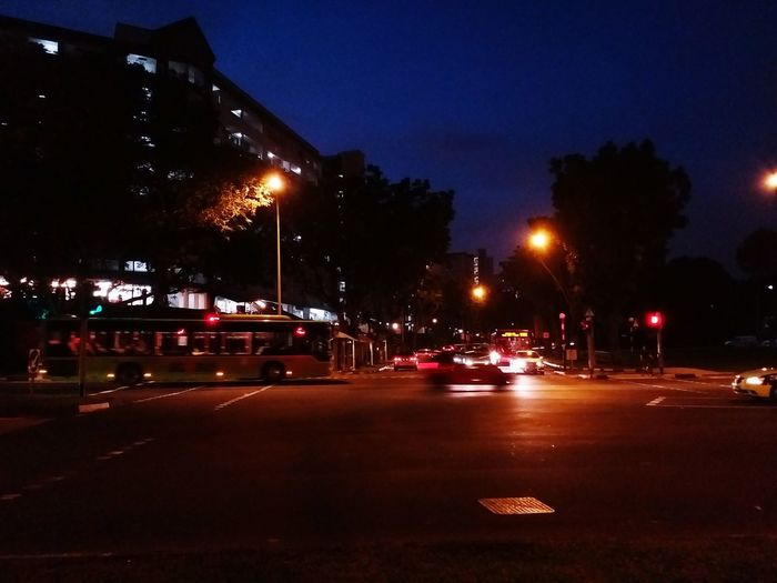 When can I cross the road... Night Illuminated Car Outdoors City No People Sky