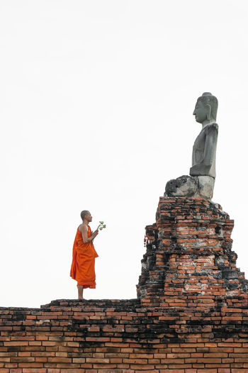 Ancient Antique Buddha Buddhist Sitting Standing Temples Architecture Brick Buddhism Built Structure Lotus Low Angle View Monk  Outdoors Religion Ruin Sculpture Statue Travel Destinations Wreckage Of The Post-industrial Age