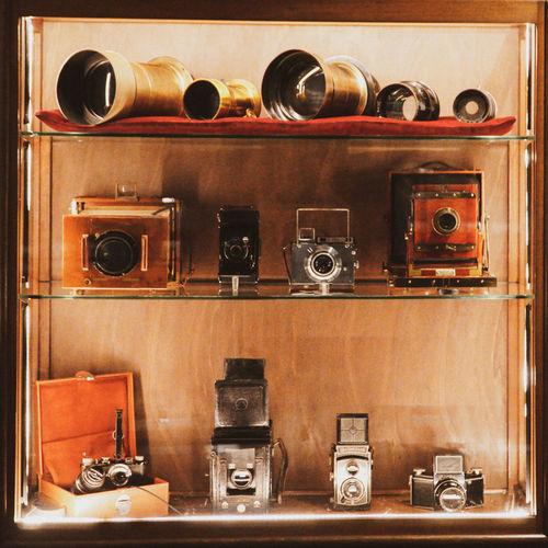 Museo nazionale del cinema - National Museum of Cinema Travel Destinations Tourism Tourist Attraction  Tourist Destination Mole Antonelliana Torino Turin Italia Piemonte National Museum Of Cinema Museo Nazionale Del Cinema Sony A6300 18-105mm Old Stuff Photocamera Camera Collection Indoors  No People Technology Retro Styled Equipment Camera - Photographic Equipment Wood - Material Shelf Photography Themes Still Life Metal Large Group Of Objects Kitchen Antique Old Household Equipment Close-up Container Appliance