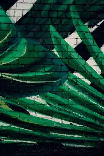 Full frame shot of green wall