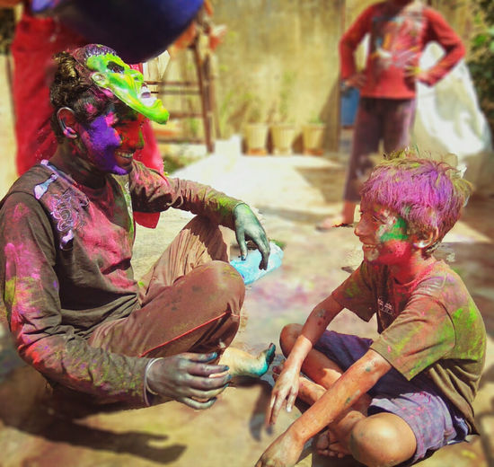 Cultures Real People Holi Colors Holi Colour Festival Holi Celebration.india Multi Colored Outdoors Celebration EyeEmNewHere The Photojournalist - 2017 EyeEm Awards Place Of Heart EyeEm Selects Neon Life This Is Family