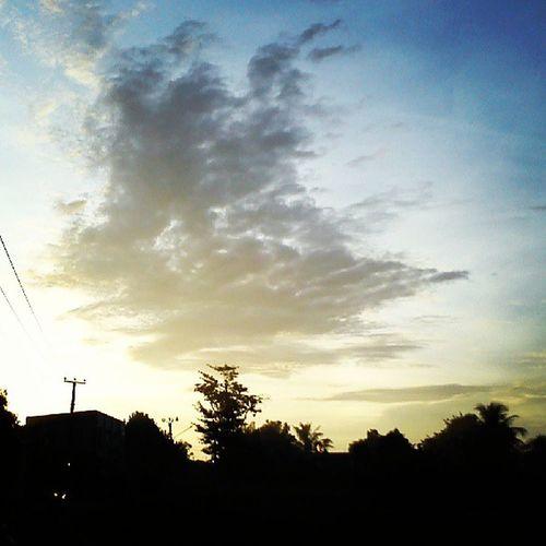 Blue Yellow Clound Sun indonesia