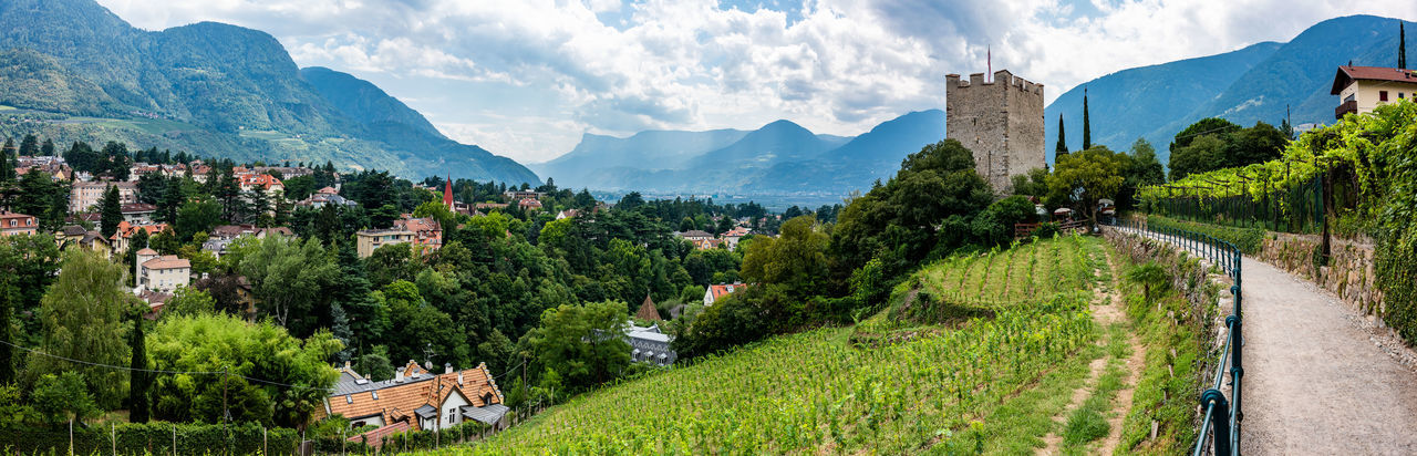 Alto Adige Cityscape Meran Panorama Architecture Building Building Exterior Built Structure City Cloud - Sky Day Italy Mountain Mountain Range Nature No People Outdoors Panoramic Plant Residential District Sky South Tyrol Tree