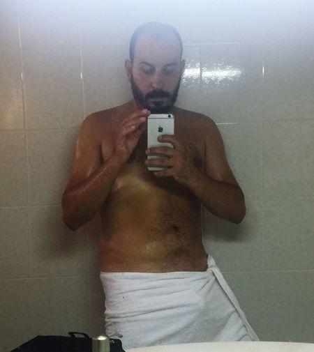 Mirror Handsome Adult Nudeshoot Boy Çeşme Bear Beard Cool Cute Turkey Photooftheday Men People Man Photography One Person