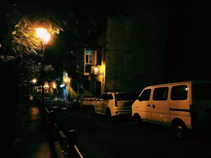 A night in Macau. Macau Night Street Light Car City Building Exterior Architecture No People Transportation Illuminated