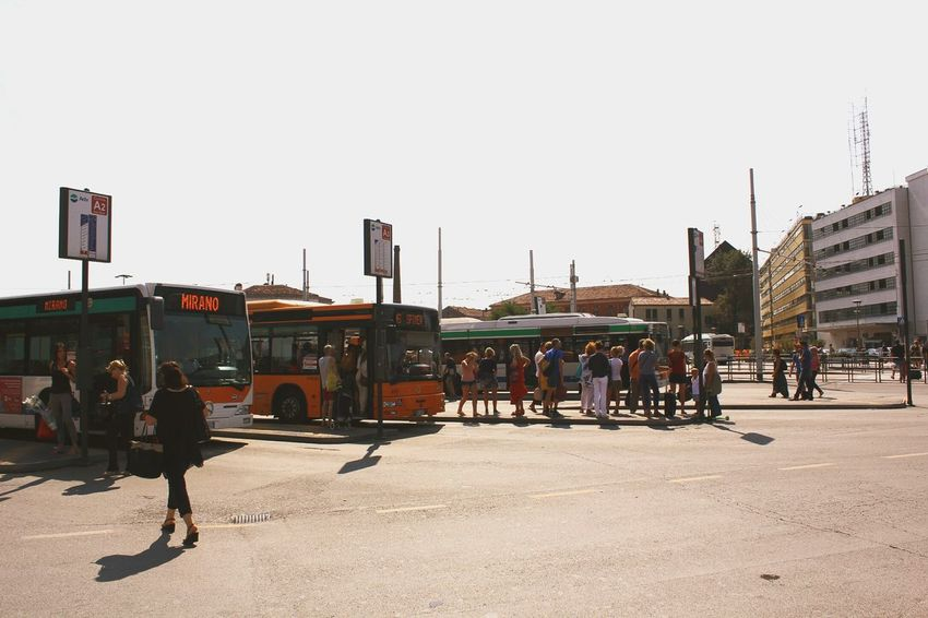 City Busstation Venice, Italy Exploring The City Traveling Traffic Streetphotography People City Life Croudy
