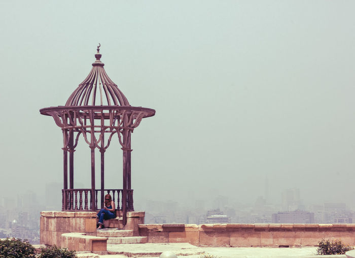 Alone Egypt Travel Woman Architecture Building Exterior Built Structure Clear Sky Egyptian Islamic Leisure Activity Lifestyles Lonley Lonley Girl Men Mosque Of Muhammad Ali Nature Old Old Buildings Outdoors People Real People Sky Togetherness View Of Cairo