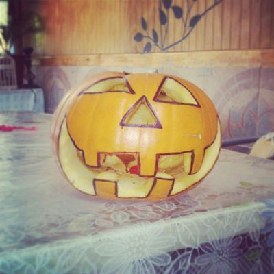 Happy Halloween everyone :D Halloween Instahalloween Instagramers Instausa instaphoto instalike happy Halloween 2013 friends pumpkin like likemypic follow followme followback like4like l4l f4f follow4follow me mypumpkin