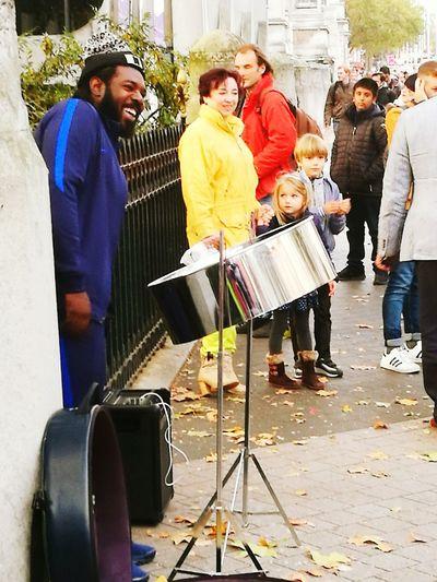 Pan Drums Busker Exhibition Road LONDON❤