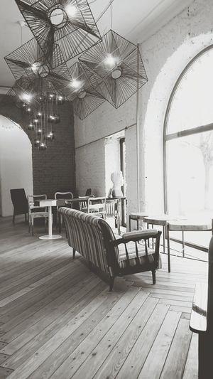 Cafe Interior Design Smalltown Blackandwhite Black & White Russia First Eyeem Photo