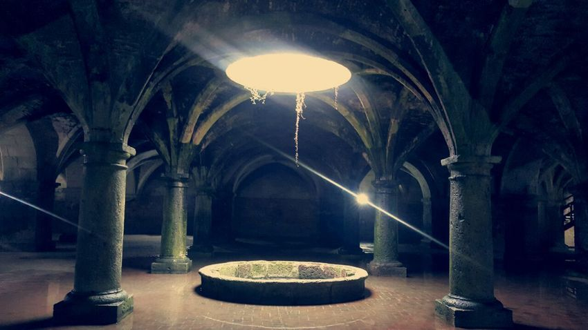 Light Light And Shadow Light In The Darkness Hope Tank Water Tank Morocco Eljadida Citerne Portugaise Citerne Photography Architecture Indoors  Night Built Structure No People Illuminated