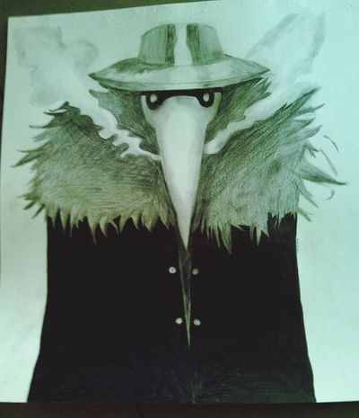 The plague doctor. some plague doctors wore a special costume, although graphic sources show that plague doctors wore a variety of graments. The protective suit consisted of a heavy fabric overcoat that was waxet, amask witg glasses eye openings and a cone nose shaped luke a beak to hold scented substance and a straw. Drawing Art Plague Doctor Blackandwhite