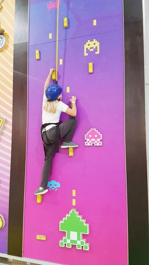 Climbing Blonde Blond Hair Blonde Hair Sagunto SPAIN FreeTime Sport Sporting Girl Child Childhood Climb Climbing Climbing Wall Climbing Equipment Inside Inside Photography Full Length Standing Multi Colored Climbing Rope Kid This Is Strength