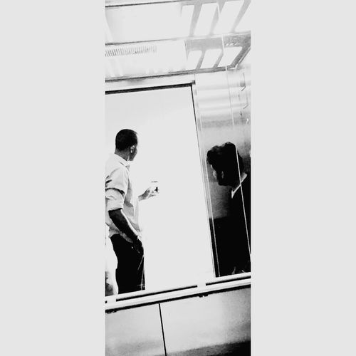 Black And White Blackandwhite Photography Lift Looking To The Other Side Looking Into The Future Withmybrother