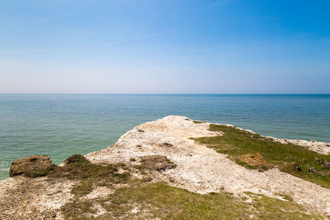 Coastal Landscape Beach Beauty In Nature Blue Clear Sky Cliff Cliff Edge Coastal Coastal Landscape Day Horizon Horizon Over Water Landscape Nature No People Outdoors Sand Scenics Sea Seaford Sky Tranquil Scene Tranquility Travel Destinations Vacations Water