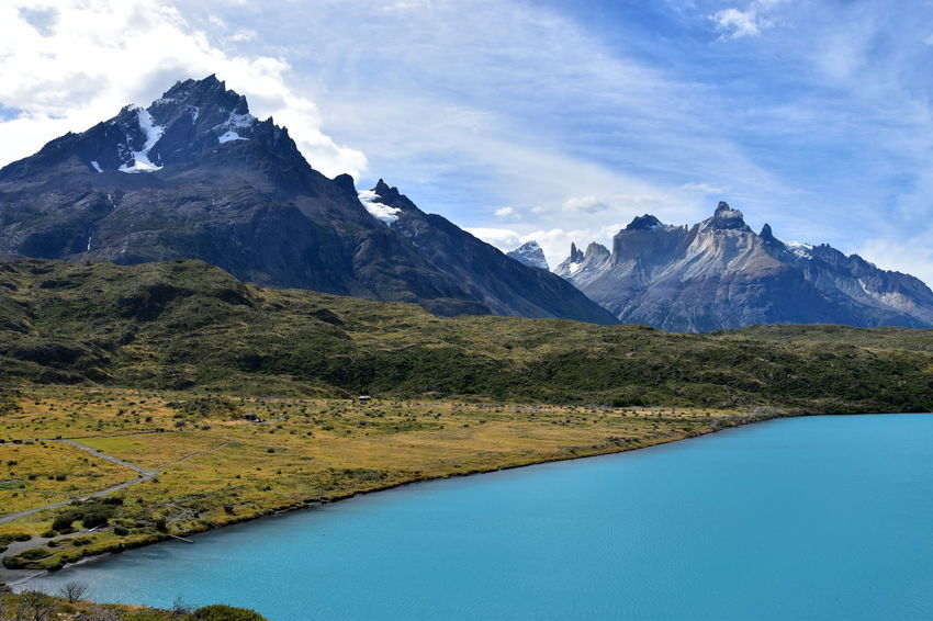 Blackandwhite Blue Lake Chile Colorful Day Hiking Landscape Nature Betterlandscapes Patagonia Sky Sky And Clouds Snow Stunning Torres Del Paine Trekking Wilderness