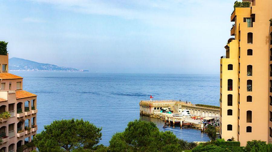 Sea view Monaco Balcony View Fine Art Landscapes Sea And Sky EyeEm Gallery Sky Pier Sea Buildings EyeEm
