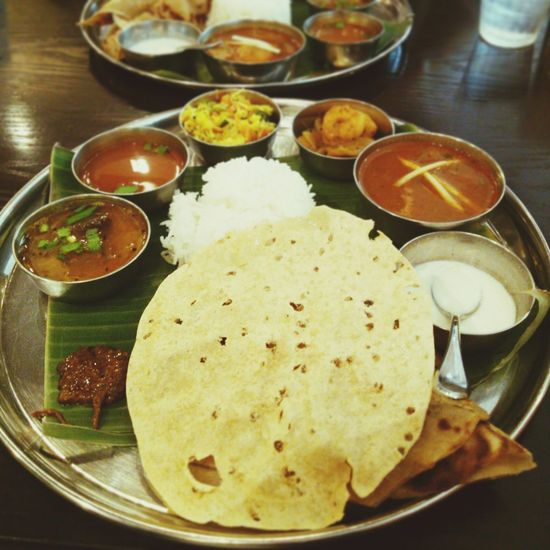 Had delish South Indian one plate dish, meals, for lunch today! Meals Curry Indiancuisine インド料理
