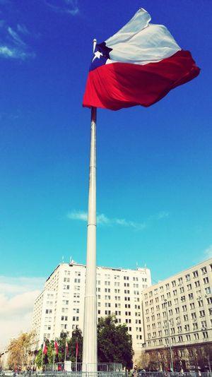Bandera Teatinos Zenteno Nataniel Cox Morande Gral Libertador Bernardo Ohiggins Alameda La Moneda Capitalcity Chile Santiago