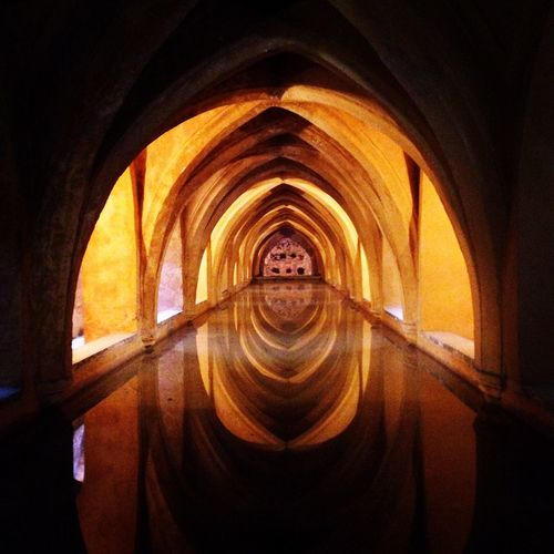 Spain♥ indoors arch no people Architecture day Seville alcazar Watertank Water Sevilla Spain♥ Indoors  Arch No People Architecture Day